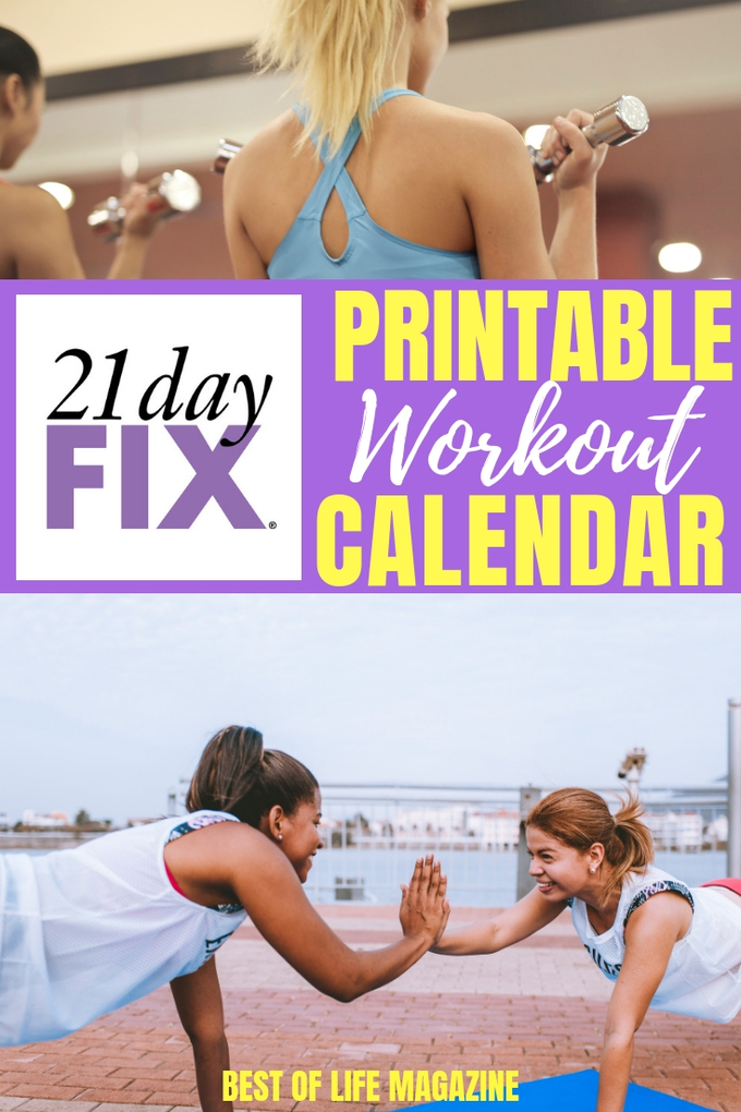 Use this 21 Day Fix printable workout calendar to stay on track with your 21 Day Fix workout schedule! Beachbody Workouts | Beachbody Printables | 21 Day Fix Printables | Free 21 Day Fix Printables #21dayfix