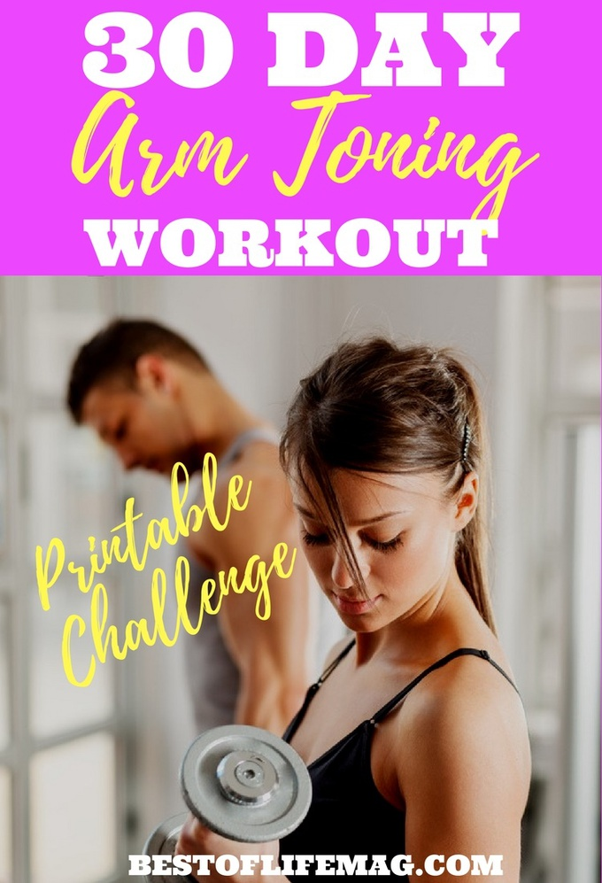 This printable 30 day arm toning workout challenge can be done at home and will tone your arms while keeping them lean and long for a sexy upper body. Upper Body Workouts | At Home Arm Workouts | At Home Workouts for Women | Workouts for Women | Arm Workouts for Women via @amybarseghian