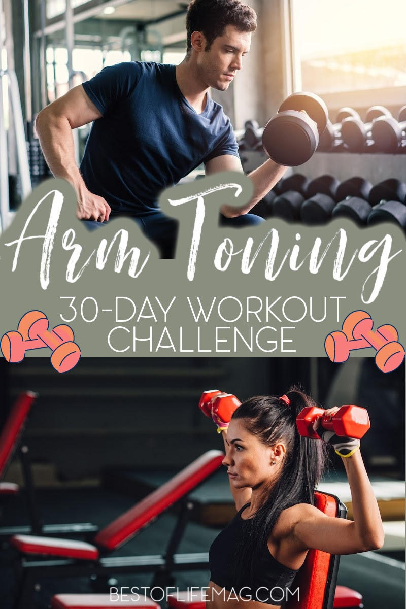 This printable 30 day arm toning workout challenge can be done at home and will tone your arms while keeping them lean and long for a sexy upper body. Upper Body Workouts   At Home Arm Workouts   At Home Workouts for Women   Workouts for Women   Arm Workouts for Women   Arm Toning for Men   How to Get Toned Arms #workoutprintable #workouts via @amybarseghian