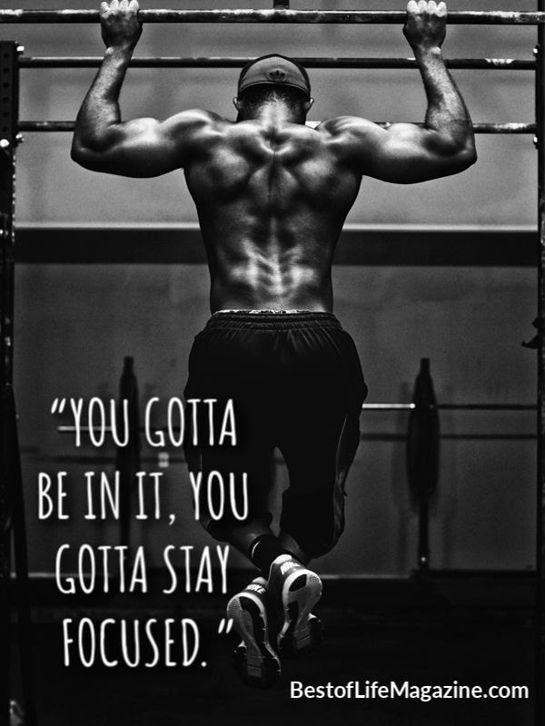 "Printable Shaun Week Quotes for Workout Motivation for Losing Weight ""You gotta be in it, you gotta stay focused."""