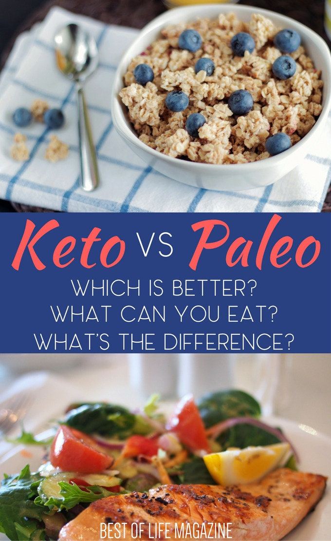 Just what is the difference between a keto vs Paleo diet? Knowing the health benefits and diet differences between the two will help you determine which one is right for you. What is a Keto Diet | Keto Diet Ideas | What is a Paleo Diet | Paleo Diet Ideas | Paleo Diet Foods | Keto Diet Foods | Ketogenic Diet Foods via @amybarseghian