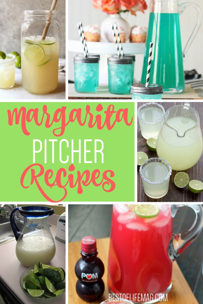 These margarita pitcher recipes are perfect for a crowd and make the BEST party drinks! Easy Margarita Pitcher Recipes | Best Margarita Pitcher Recipes | Margarita Recipes | Party Recipes | Cocktail Recipes for a Party | Margarita Recipes for a Party