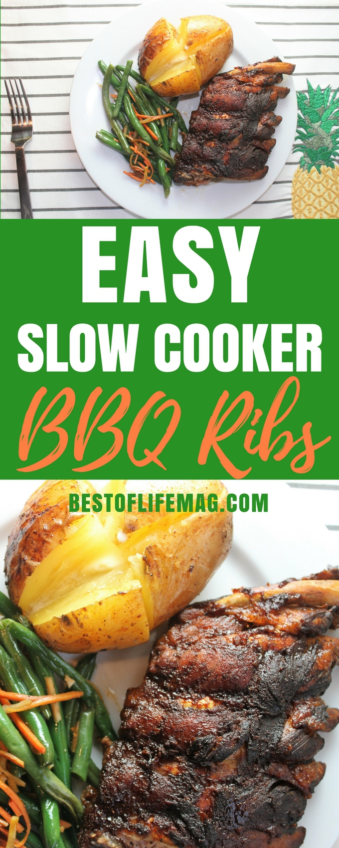 This super easy Crockpot BBQ ribs recipe makes such flavorful and tender ribs, you may never fire up the grill again! Easy BBQ Ribs Recipe | Best BBQ Ribs Recipe | Crockpot BBQ Ribs Recipe | Slow Cooker BBQ Ribs Recipe | Best Crockpot Recipes | Best Slow Cooker Recipes | Easy Crockpot Recipes | Crockpot Dinner Recipes