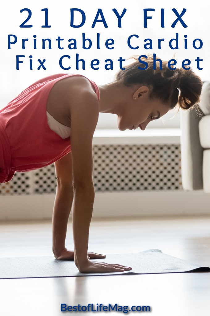 Take your 21 Day Fix workout with you wherever you go with this printable 21 Day Fix Cardio Fix cheat sheet that is complete with workout moves and timing. 21 Day Fix Total Body Cardio Fix | 21 Day Fix Cardio Cheat Sheet | Beachbody Printables | Printable for 21 Day Fix | 21 Day Fix Printable | Weight Loss Tips | Beachbody Tips | Tips for Losing Weight #21dayfix #printable