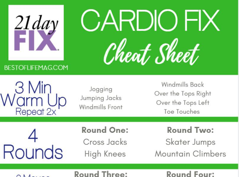 This is a photo of 21 Day Fix Workout Schedule Printable pertaining to 10 minute