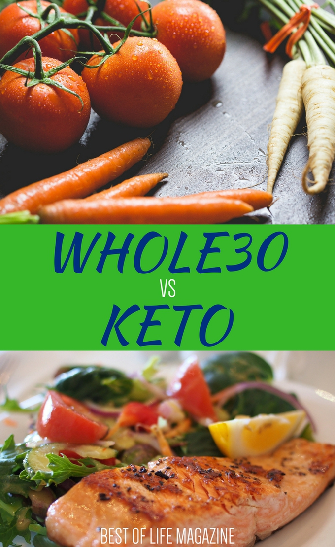 Taking a look at the similarities and differences between Whole30 vs Keto diets can help you decide which version of the diet fits your lifestyle. Whole30 Diet Tips | Keto Diet Tips | Which is Better Whole30 or Keto | What to Eat on a Keto Diet | What to Eat on Whole30 | What is a Keto Diet? | What is Whole30? | Difference between Whole30 and Keto Diets