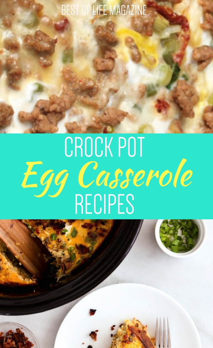 Using the best crock pot egg casserole recipes you can start your day off with a delicious meal without putting in too much time in the morning. Crock Pot Recipes | Best Crock Pot Recipe | Breakfast Recipes | Best Breakfast Recipes | Crock Pot Breakfast Recipes #Breakfast #BreakfastRecipes #EggRecipes #Crockpot #CrockpotRecipes #BreakfastCasserole