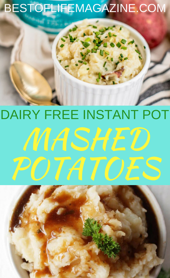 Making dairy free Instant Pot mashed potato recipes seems like a fool's errand but once you give the recipes a try, you'll find the real fool is the one who hasn't tried them yet. Adding the best mashed potato recipes to your dairy free recipes index also will help you be prepared for holiday meals. Now everyone can enjoy a tasty and dairy free Thanksgiving or Christmas.