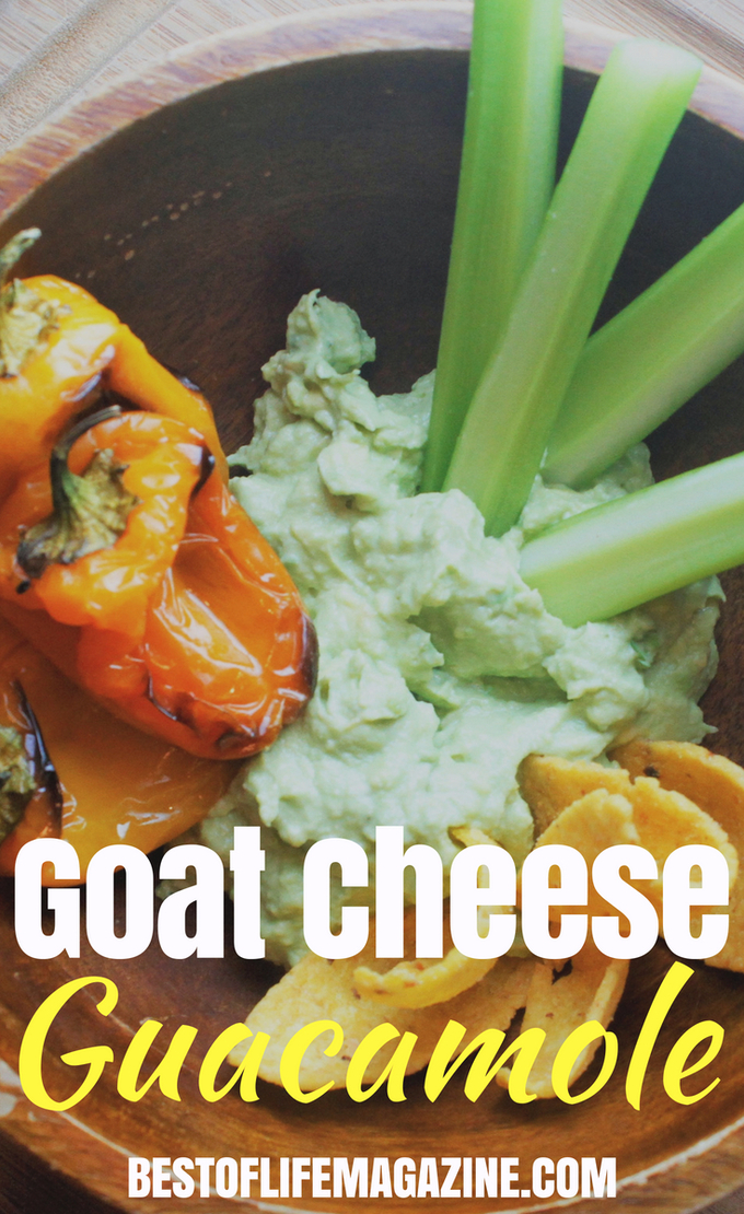 This goat cheese guacamole recipe isn't only a great addition to your meal, you can use it as a dip or eat it by itself. Turn your happy hour recipes into healthy happy hour recipes by adding the best guacamole to your menu. Not only will you enjoy this guacamole, it may be the easiest guacamole recipe around. #healthyrecipes #recipes #guacamole #mexicanrecipes #easyrecipes