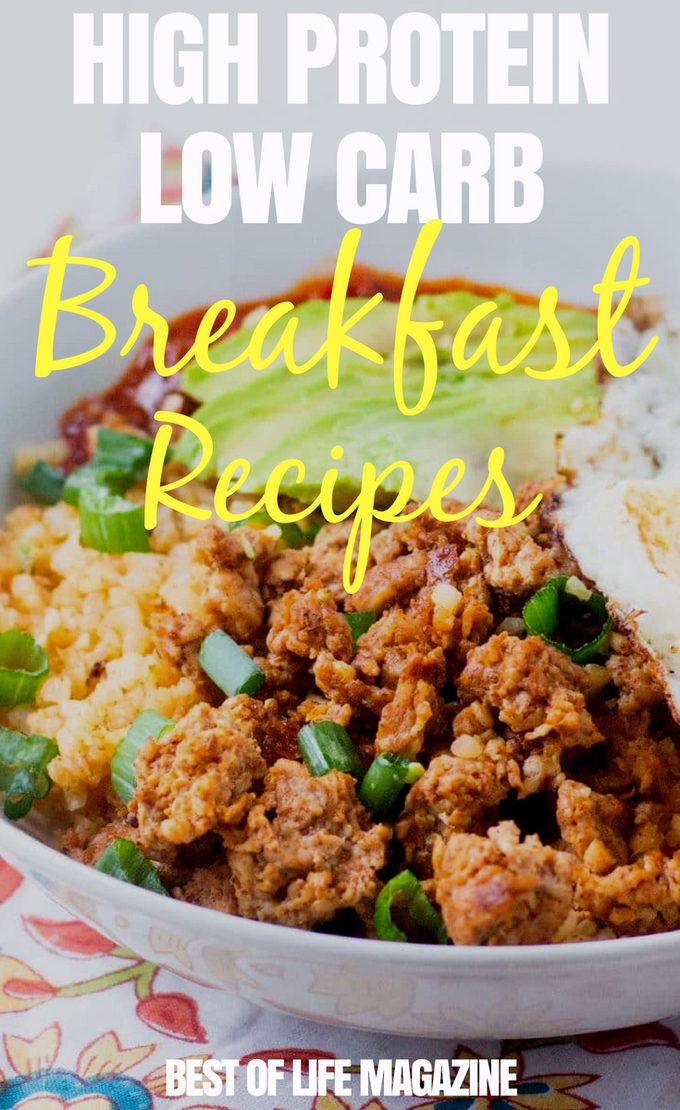 The best breakfast recipes will be high protein low carb recipes that give you energy and keep you from messing up your low carb diet. Using healthy breakfast recipes, you can stick to your keto diet and get energy at the same time. In fact, many high protein breakfast recipes will easily fit into your diet plan. via @amybarseghian