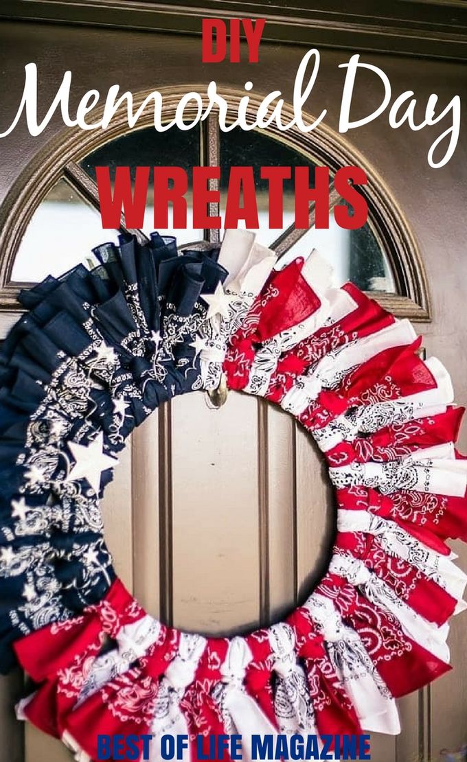 DIY Memorial Day wreaths are a great way to show your national spirit and celebrate the men and women who have fought for our country and the families who have lost someone to war. DIY Memorial Day Decorations | Easy DIY Memorial Day Decorations | Best DIY Memorial Day Decorations | DIY Holiday Decor | Easy DIY Holiday Decor | Patriotic Decorations | DIY Patriotic Decorations #DIY #wreaths #memorialday #holidaydecor #DIYDecor