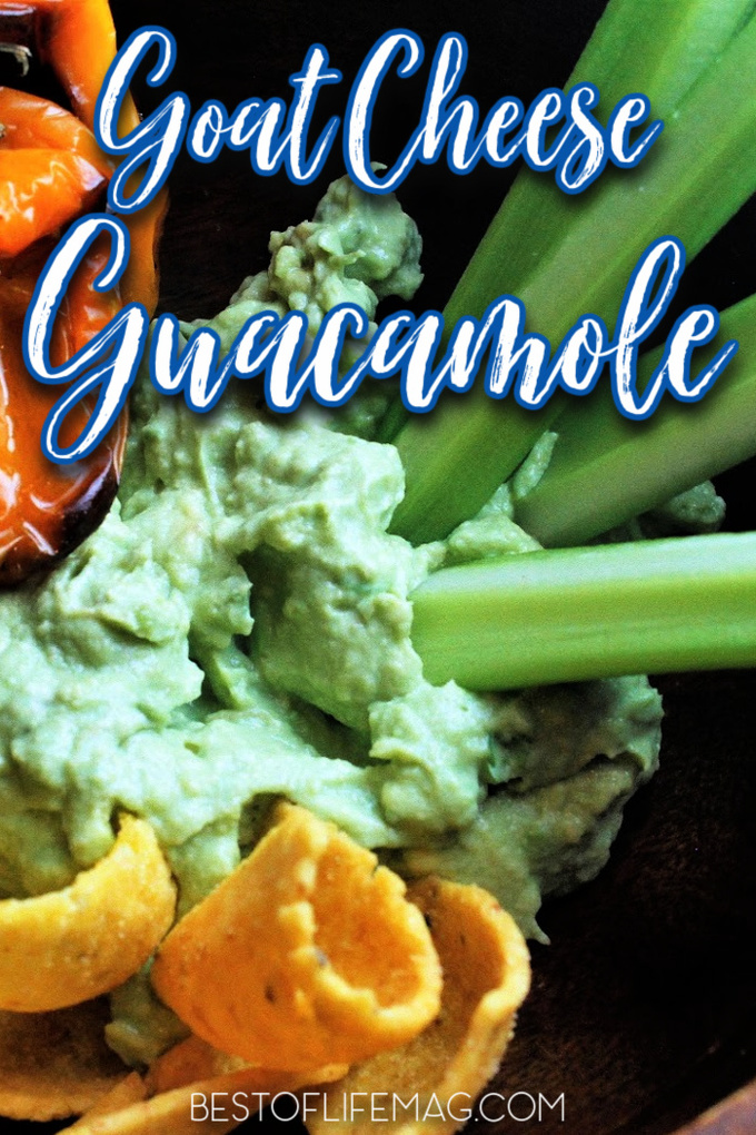 This goat cheese guacamole recipe isn't only a great addition to your meal, it is a delicious side dish or party appetizer. Homemade Guacamole Recipe | Recipes with Avocado | Party Recipes | Dip Recipes for Parties | Avocado Dip Ideas | Party Food Ideas | Taco Tuesday Recipes #guacamole #avocado via @amybarseghian