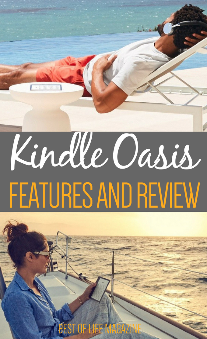 The Kindle Oasis 2018 is loaded with features that readers will enjoy each time they read their favorite book. #kindleoasis #oasis #tech #ebook #ereader #audible #audiobook
