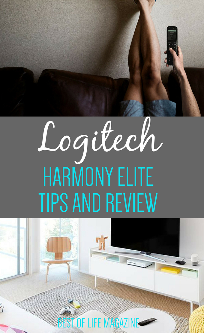 Taking your smart home to the next level is easier than ever with the Logitech Harmony Elite remote that pairs perfectly with Amazon Alexa and Google Home. #SmartHome #TechReviews #AmazonAlexa #GoogleHome #TechTips #HomeDesign