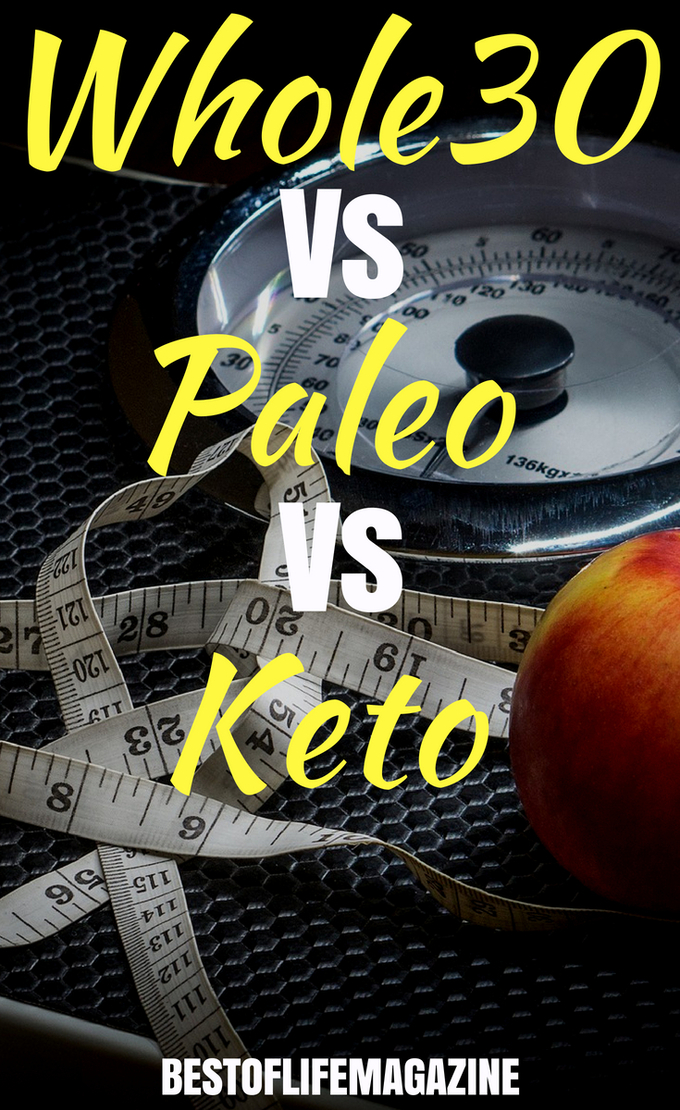When finding a healthy diet that is right for you, it's important to look at Whole30 vs Paleo vs Keto and compare the differences so you feel as great as you look. #diet #weightloss #weightlosstips #paleo #keto #whole30 #paleotips #ketotips #whole30tips