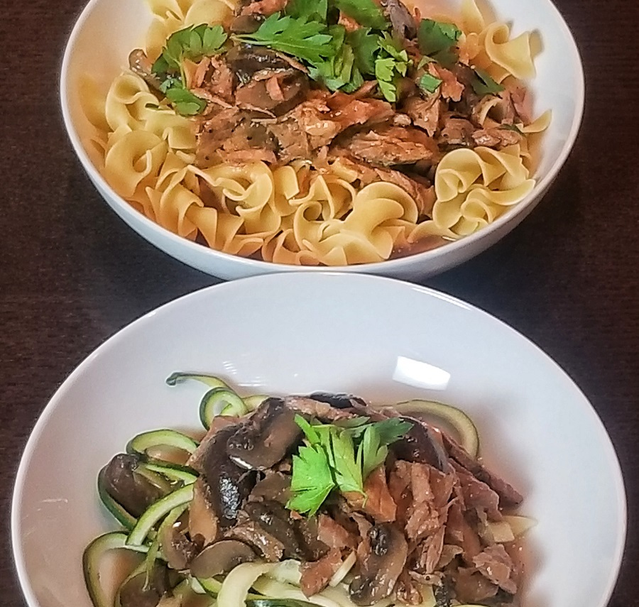 Dairy free dieters and allergy sufferers rejoice; this crock pot dairy free beef stroganoff recipe is made for you and so easy to add to your weekly meal plan. Plus, it comes with an Instant Pot conversion! Dairy Free Crockpot Recipes | Dairy Free Instant Pot Recipes | Easy Instant Pot Recipes | Easy Crockpot Recipes #dairyfree #crockpot #InstantPot #stroganoff