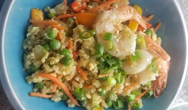 The best 2B Mindset cauliflower fried rice with shrimp is a 2B Mindset take on a take-out favorite. 2B Mindset Recipes | Easy 2B MIndset Ideas | Best Healthy Dinner Recipes | Best Meal Plan Recipes | Best Beachbody Recipes | Easy Beachbody Meal Plan Ideas #2BMindset #healthy #recipes