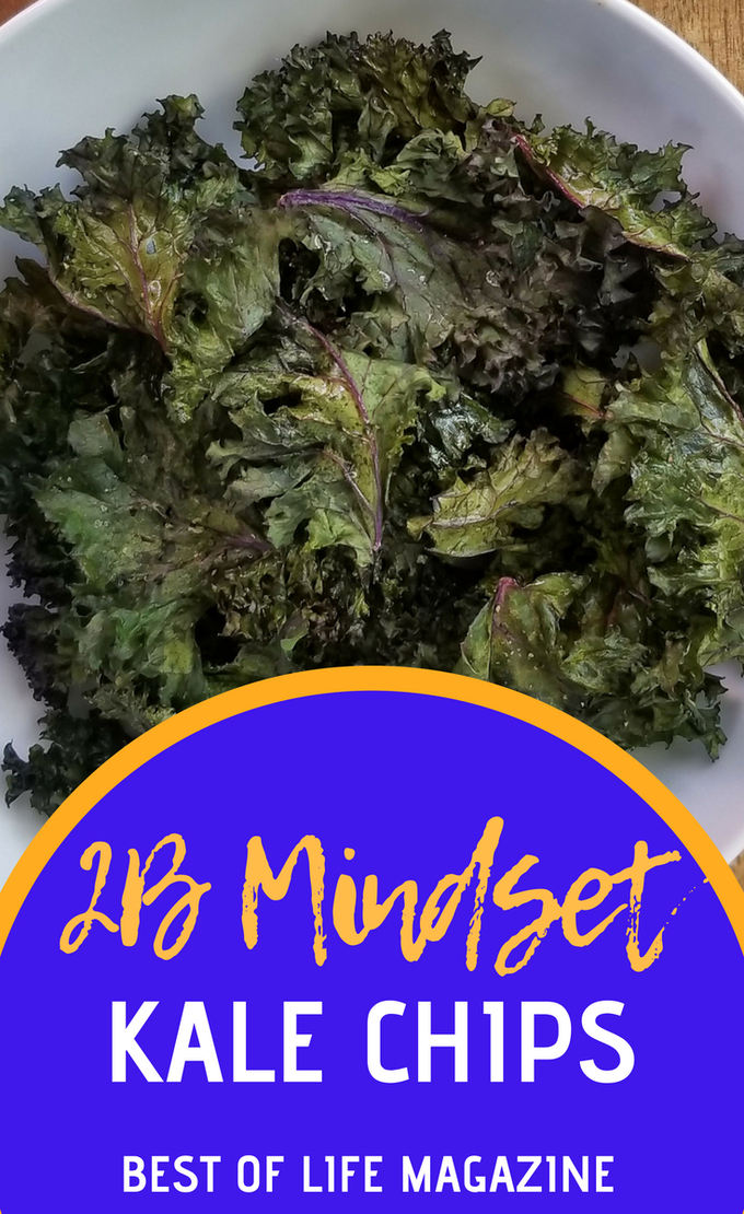 Plate It! gives room for an optional snack between lunch and dinner so all you need is a great 2B Mindset kale chips recipe. 2B Mindset Recipes | 2B Mindset Snack Recipes | Easy Healthy Recipes | Beachbody Recipes #2BMindset #recipes #fitness via @amybarseghian
