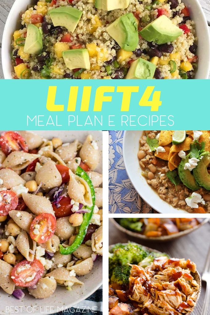 Since you will work so hard, your body needs the right fuel which means LIIFt4 Meal Plan E might be the right combination of protein, fats, and carbs for you. Recipes for LIIFT4 | Beachbody Recipes | Recipes for Weight Loss | Healthy Weight Loss Recipes #LIIFT4 #beachbody #weightloss #recipes via @amybarseghian