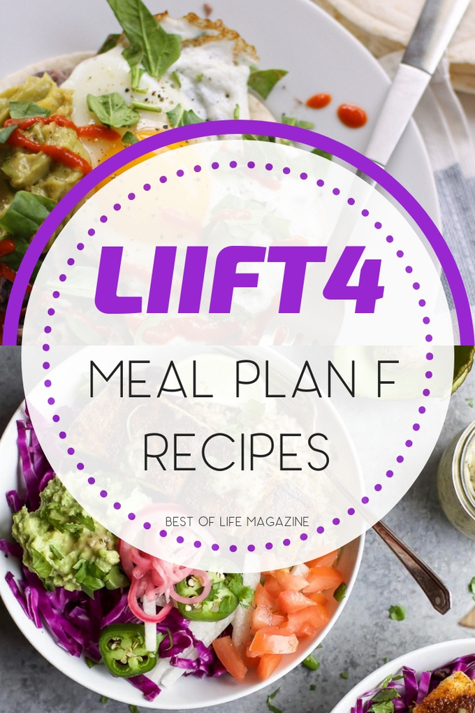 Part of the planning process with any weight loss plan or workout program is to have the right recipes. These LIIFT4 Meal Plan F recipes will help you achieve your goals on the LIIFT4 program and beyond. LIIFT4 Meal Plan Recipes | Beachbody Recipes for Weight Loss | Beachbody Meal Plan | Workout Meal Plans #LIIFT4 #recipes #diet