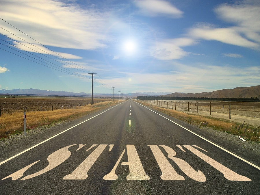 2B Mindset Recipes on Pinterest a Road with the Word Start Written on it