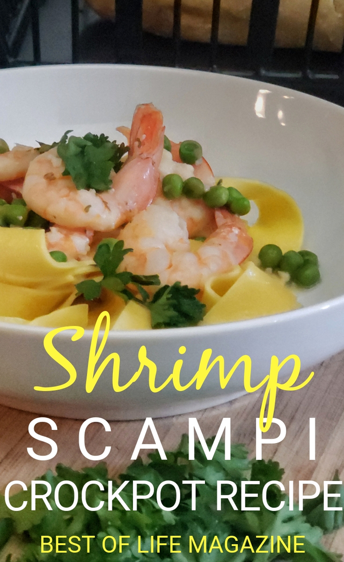 For some, even thinking about making shrimp scampi is scary, but when you use a crockpot shrimp scampi recipe, you can put those fears aside and enjoy this easy tasty recipe. Crockpot Shrimp Recipe | Shrimp Scampi Recipe | Shrimp Recipes | Crockpot Recipes | Slow Cooker Recipes #crockpot #seafood