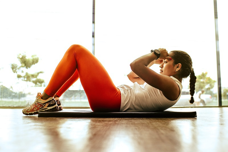 Oblique Workouts Woman Working Out Her Core