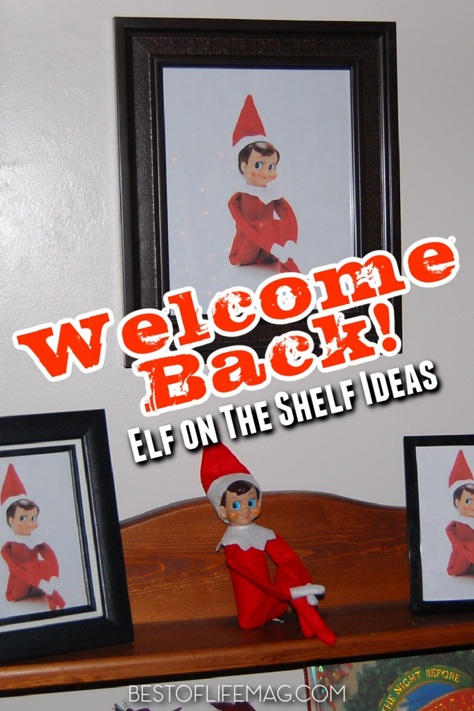 Welcome back Elf on the Shelf ideas can help everyone in the family get excited for the fun antics of your family elf during the Christmas season. Fun Elf on The Shelf Ideas | Introduce Elf on the Shelf | Holiday Traditions | Things to Do During the Holidays #elfontheshelf #christmas via @amybarseghian