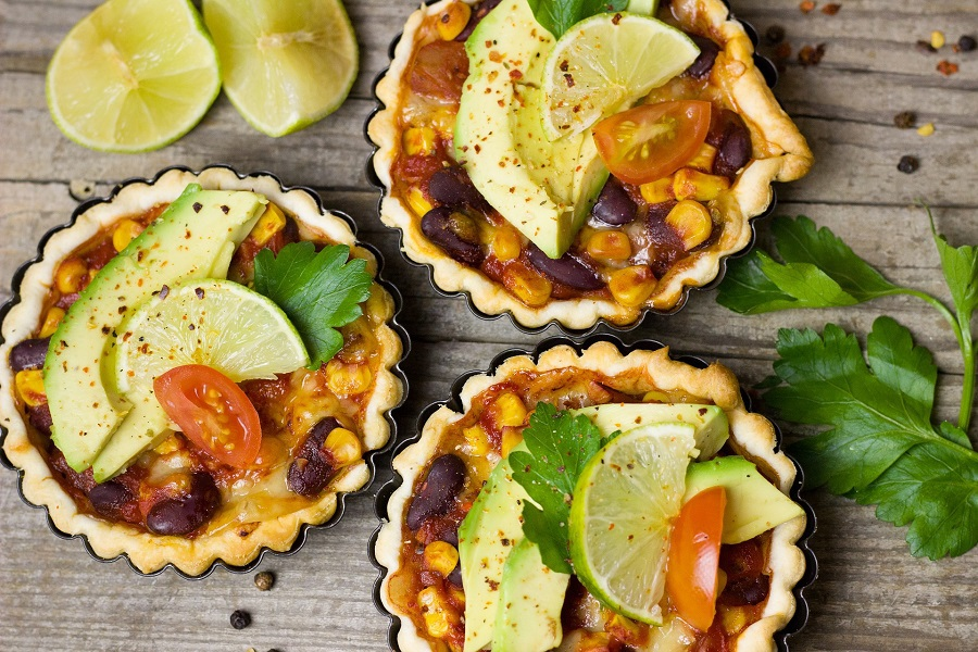 2B Mindset Recipes on Pinterest Overhead View of Mexican Style Quiche