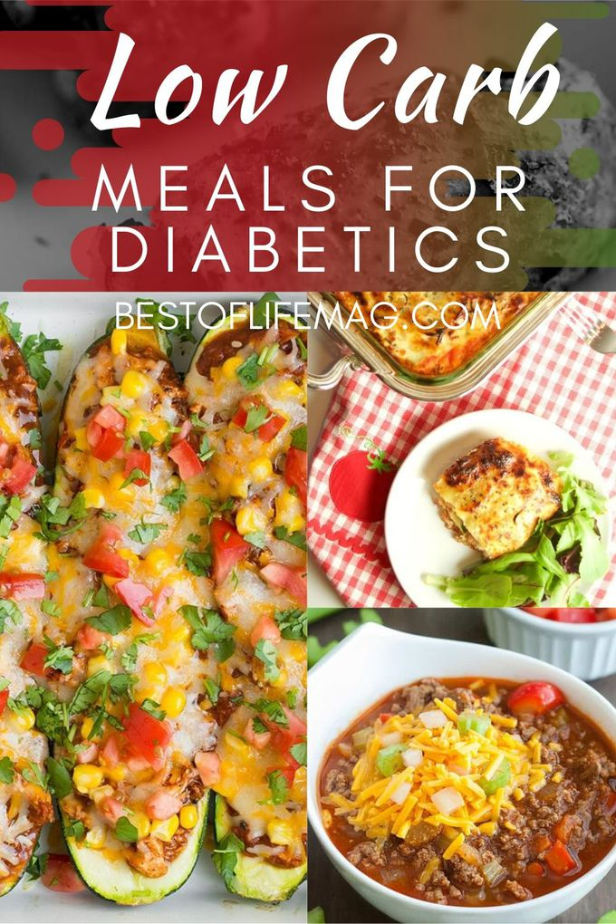 Low Carb Diet For Diabetics Meal Plan