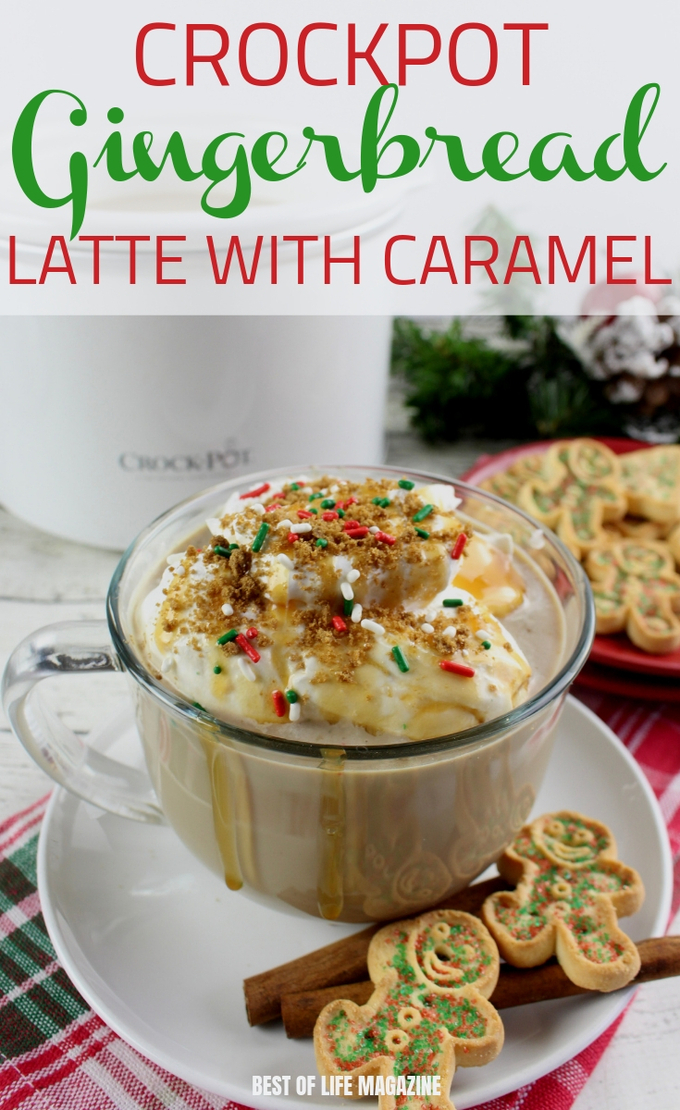 Wake up in the morning to something better than your average cup of coffee, a crockpot gingerbread latte with delicious caramel. This drink recipe is perfect to enjoy while curled up with a book. Crockpot Recipes | Slow Cooker Recipes | Drink Recipes | Crockpot Coffee Recipes | Fall Recipes #slowcooker