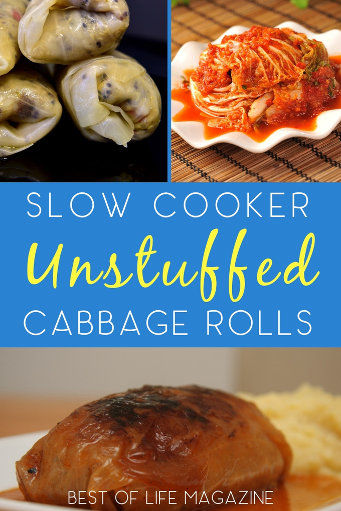 Cabbage rolls are a healthy appetizer that can be turned into a full meal when you use this easy and delicious crockpot unstuffed cabbage rolls recipe. Cabbage Rolls Recipe | Unstuffed Cabbage Rolls | Crockpot Recipes | Slow Cooker Recipes | Cabbage Ideas #crockpot via @amybarseghian