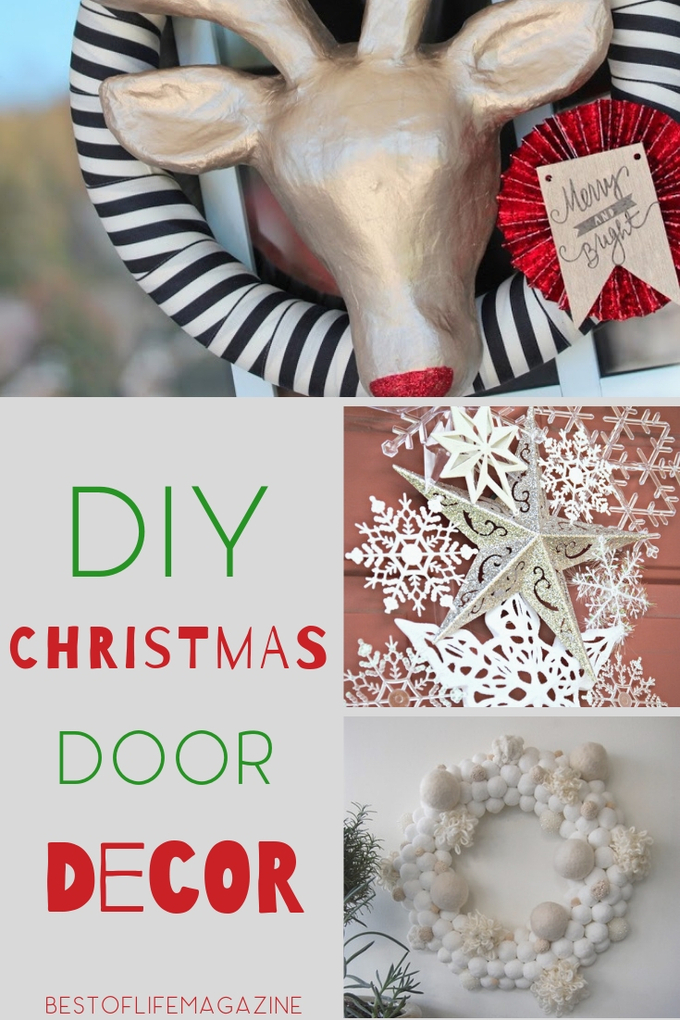 Make sure everyone knows you love Christmas by welcoming them into your home with the best DIY Christmas door decorations. DIY Christmas Decor | DIY Door Decor | DIY Christmas Ideas | Christmas Ideas #christmas #diy