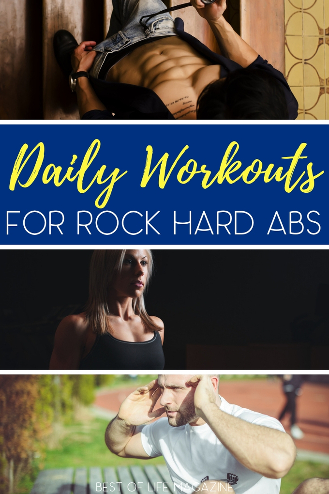 Don't neglect one of the most important areas of your body! With these daily exercises, you can get the rock hard abs you have always wanted. Exercise Tips | Daily Workouts | Daily Ab Workouts | Workout Ideas | At Home Workouts #workouts #fitness