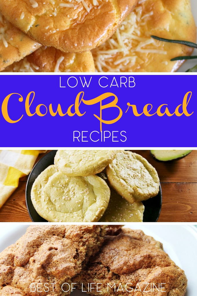 The best low carb cloud bread recipes can help you enjoy bread again and keep you losing weight in a healthy way. Low Carb Bread Recipes | Low Carb Recipes | Keto Bread Recipe | Keto Recipes | Healthy Recipes | Meal Planning #lowcarb via @amybarseghian