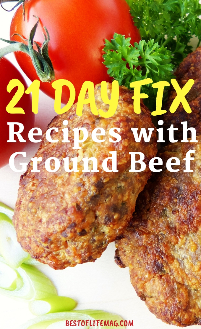 Ground beef recipes are full of flavor and help keep you full and these 21 Day Fix recipes with ground beef are no exception. 21 Day Fix Recipes | Weight Loss Recipes | Healthy Recipes | Ground Beef Recipes | Healthy Recipes | Beachbody Recipes #weightloss #21dayfix