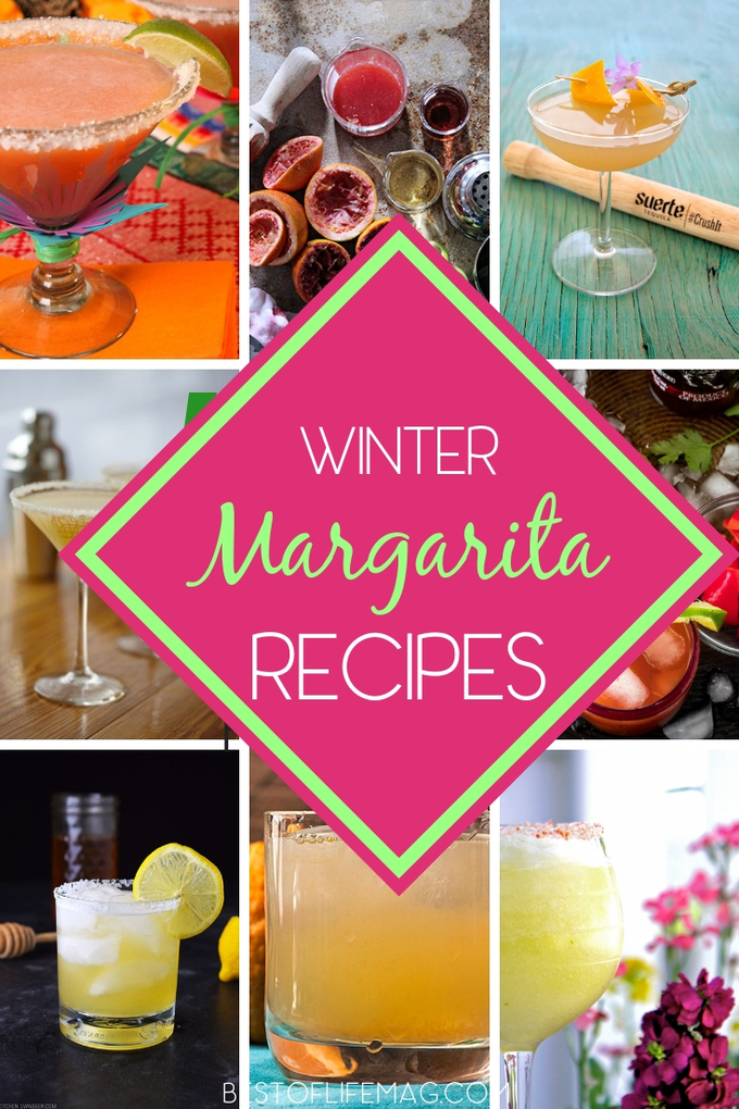 Don't put the margarita mix away this winter, instead, use some winter margarita recipe ideas to get you through the season. Anejo Tequila Ideas | Tequila Cocktail Ideas | Margarita Ideas | Winter Cocktail Ideas #winter #margarita