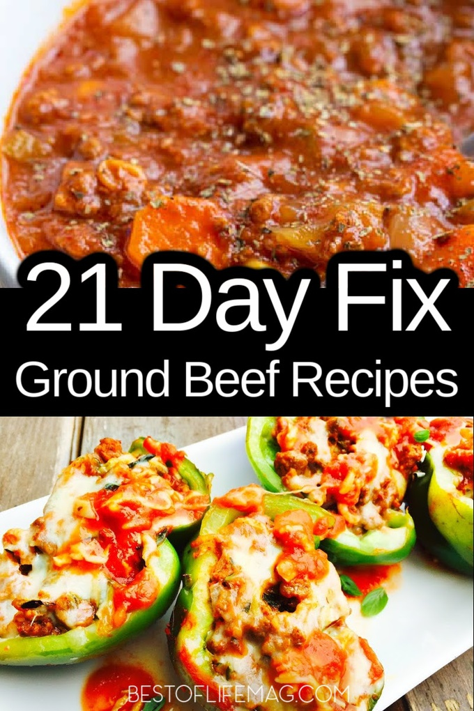 Ground beef recipes are full of flavor and help keep you full and these 21 Day Fix recipes with ground beef are no exception. 21 Day Fix Recipes | Weight Loss Recipes | Healthy Recipes | Ground Beef Recipes | Healthy Recipes | Beachbody Recipes #weightloss #21dayfix via @amybarseghian