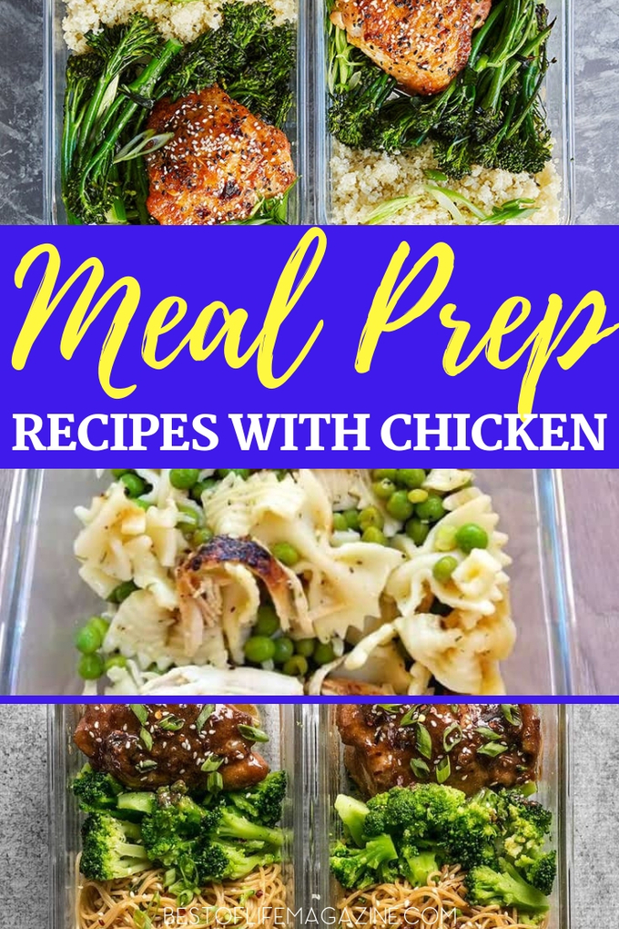 When you meal prep for lunch, you make plans to eat healthy even when you're away from home, no matter how far away you are. Healthy Chicken Recipes | Weight Loss Recipes | Meal Prep Ideas | Chicken Meal Prep Ideas | Healthy Recipes #mealprep #chicken