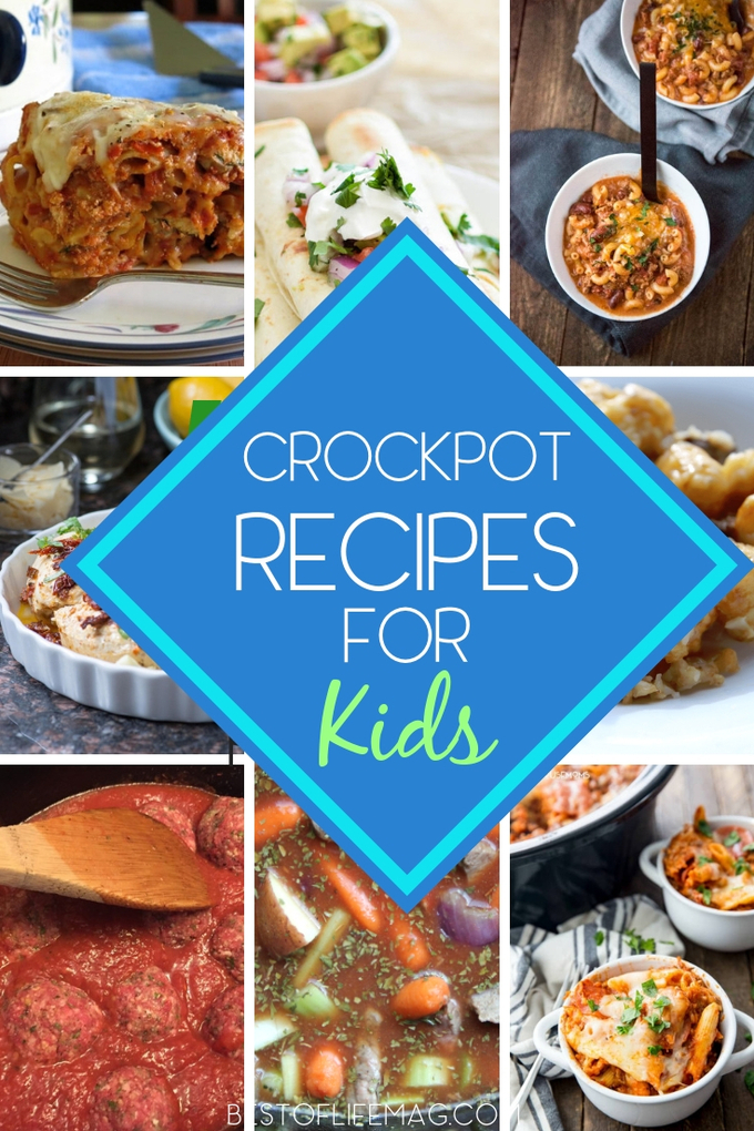 Making these crockpot recipes for kids is easy and you can relax knowing they are eating delicious meals filled with nutrition. Slow Cooker Recipes | Crockpot Recipes for Dinner | Quick Recipes | Crockpot Recipes for Families #slowcooker