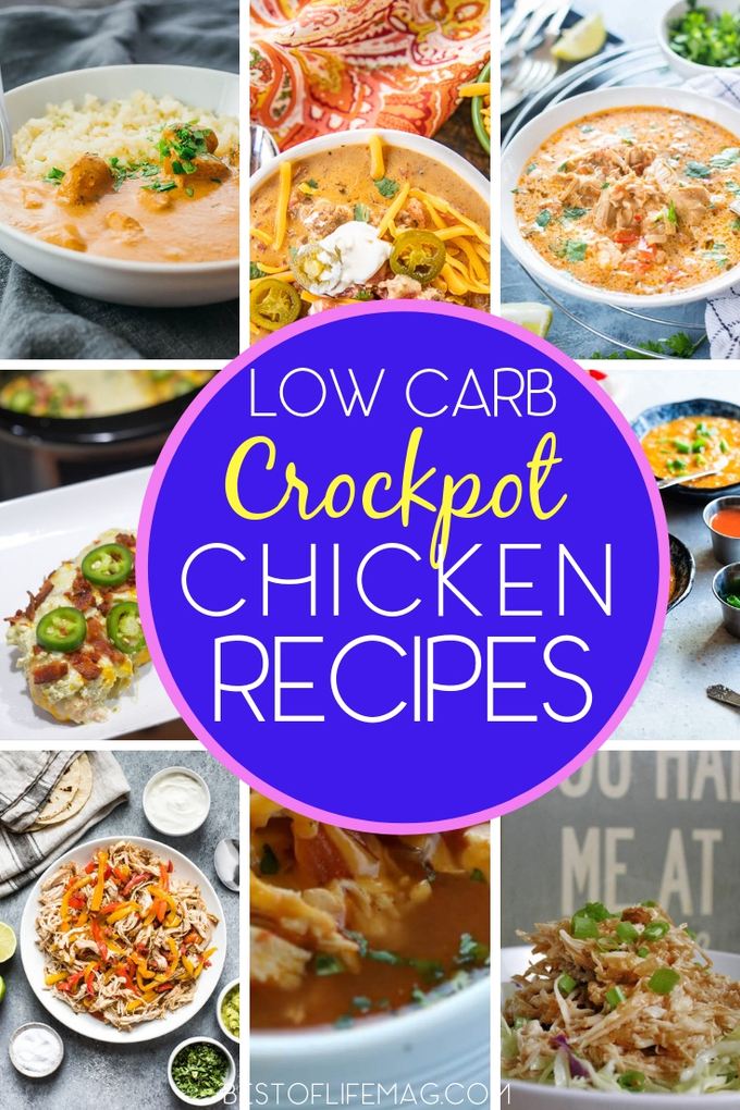 Having a crockpot makes eating low carb even easier and low carb crockpot recipes with chicken are great recipes to help you get started. Low Carb Recipes | Low Carb Crockpot Recipes | Crockpot Recipes with Chicken | Crockpot Chicken Recipes | Low Carb Chicken Recipes | Slow Cooker Recipes #lowcarb #crockpot