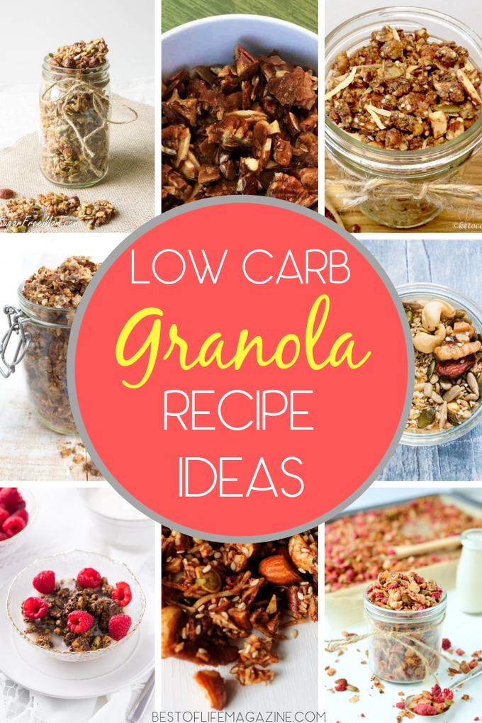 Keto granola recipe ideas are perfect to carry with you for a quick snack or to make on busy days to help when you don't have a lot of time for keto meal prep. Keto Snack Recipes | Keto Recipes | Low Carb Snack Recipes | Low Carb Recipes | Low Carb Granola Recipes | Healthy Granola Recipes #lowcarb #keto via @amybarseghian