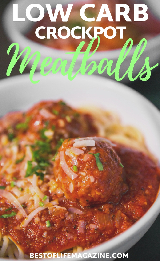 If you are on a low carb diet, these tasty low carb crockpot meatballs will curb your hunger without compromising taste! Low Carb Recipes | Crockpot Recipes | Low Carb Slow Cooker Recipes |Slow Cooker Recipes | Healthy Recipes #crockpotrecipes #lowcarb