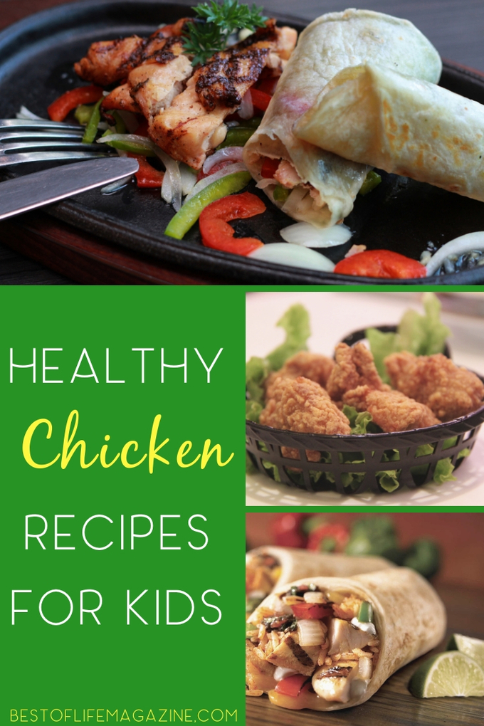 Use healthy chicken recipes for kids to help them enjoy healthy meals for lunch and dinner while you save time with these fast and easy recipes that are high in protein. | Healthy Recipes | Easy Recipes | Lunch Recipes for Kids | Dinner Recipes for Kids | Meal Planning #healthyrecipes