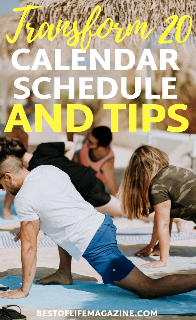 The Transform 20 calendar shows you when to do each workout. Combine this with our Transform 20 Workout Tips to ensure you get the optimal results for your body! Workout Ideas   At Home Workouts   Transform 20 Tips   Beachbody Workouts   Beachbody OnDemand #beachbody #fitness