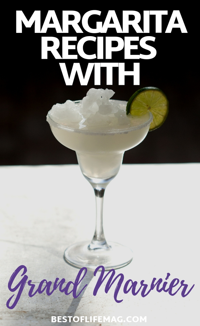 Whether you want a Cadillac Margarita or to just add a little flavor (or alcohol ) to your margarita, these margarita recipes with Grand Marnier are perfect! Margarita Recipes with Cognac | Margarita Ideas | Cognac Cocktail Recipes | Drink Recipes | Happy Hour Recipes #margarita #recipes
