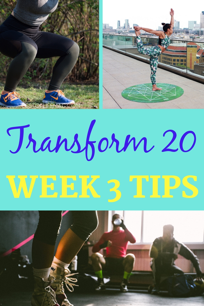 Making it to Transform 20 Week 3 workouts is not an easy feat but you've made it now prepare yourself for what's to come and make the most of your Beachbody workout. Transform 20 Tips | Transform 20 Review | Transform 20 Ideas | At-Home Workouts | Beachbody Workouts | Shawn T Workouts #beachbody #transform20