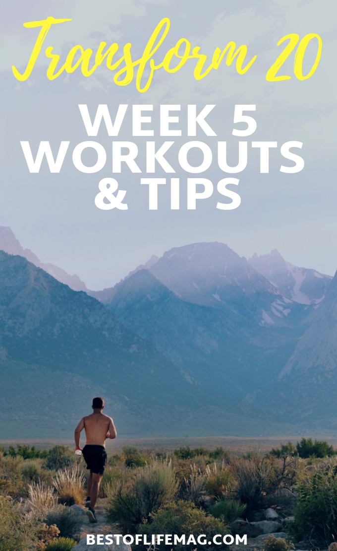 You've made it to Transform 20 Week 5 workouts and that means there is a lot to prep for as we near the end of your health and fitness transformation. Transform 20 Tips | Transform 20 Review | Transform 20 Ideas | Transform 20 Week 5 | At-Home Workouts | Beachbody Workouts | Shawn T Workouts #beachbody #transform20
