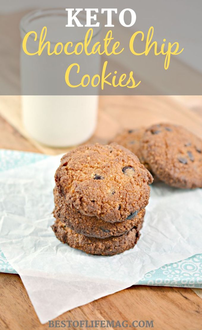 This keto chocolate chip cookies recipe will satisfy that sweet tooth while helping you stay in track with your keto diet or low carb lifestyle. Keto Dessert Recipes | Low Carb Dessert Recipes | Keto Cookies | Low Carb Chocolate Chip Cookie Recipe | Low Carb Cookie Recipes | Healthy Dessert Recipes #keto #snack