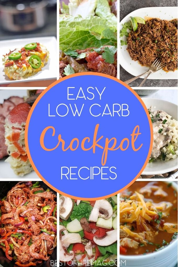 These easy low carb crockpot recipes will prove that living a healthy lifestyle is easier than ever when you have a crockpot and that recipes can still be delicious! Low Carb Slow Cooker Recipes | Keto Crockpot Recipes | Healthy Slow Cooker Recipes | Healthy Crockpot Recipes | Weight Loss Slow Cooker Recipes | Low Carb Diet | Keto Recipes | Low Carb Recipes #lowcarb #crockpot